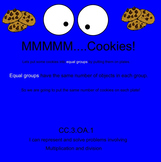 MMM...Cookies!-Multiplication Using Equal Groups-Interacti