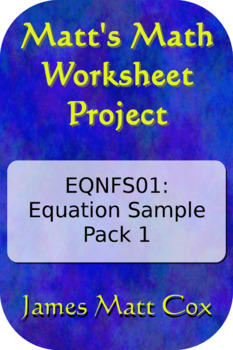 MMW Project EQNFS01: Equation Worksheet Free Sample Pack
