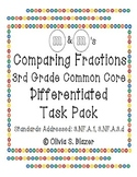 M&M's Differentiated Comparing Fractions Pack - 3rd Grade Common Core