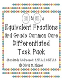 M&M's Equivalent Fractions Differentiated Task Pack - 3rd Grade Common Core