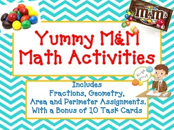 M&Ms Math - Fun and Yummy Fractions, Area, Perimeter and Geometry Activities