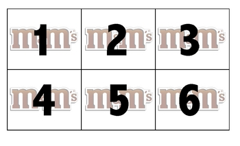 M&M's Number ID, Addition, and Subtraction Kindergarten Math Games