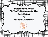 """MN 1st Grade Math Standards """"I Can"""" Statements"""