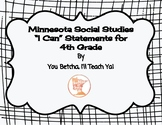 """MN 4th Grade Social Studies Standards """"I Can"""" Statements"""
