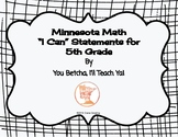 """MN 5th Grade Math Standards """"I Can"""" Statements"""