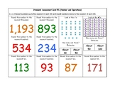 MN Math Standards Assessment Cards for Second Grade