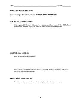 MN v Dickerson Case study