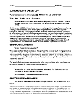 MN v Dickerson Case study - ANSWER