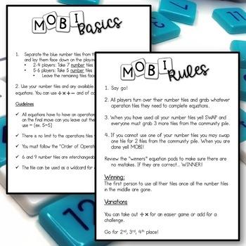 MOBI Math Center Freebie