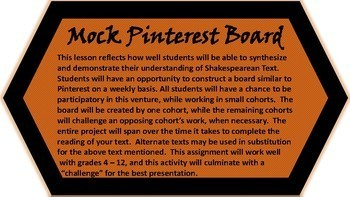 MOCK PINTEREST BOARD