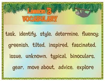 Grade 5 ELA MOD 2A, Unit1 Vocabulary and LTT