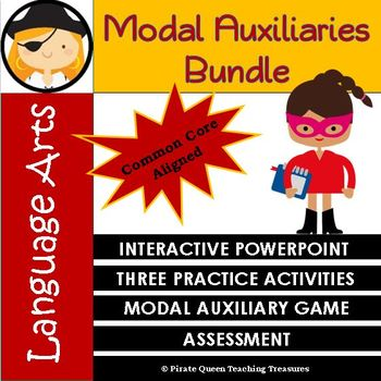MODAL AUXILIARIES Bundle / CCSS Aligned 4th Grade Up