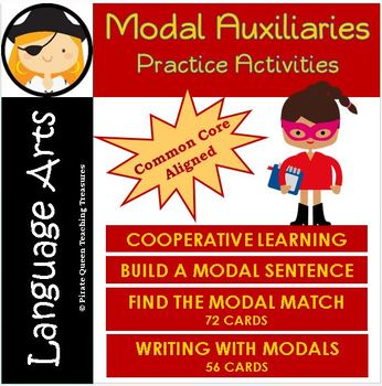 MODAL AUXILIARIES Practice Activities CCSS Aligned 4th Grade Up