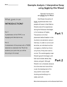 Interprative essay in an essay a thesis statement is important because it
