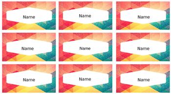 Editable labels (Modern)