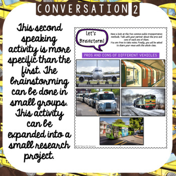TRANSPORTATION (ESL): Speaking, Reading and Writing Practice