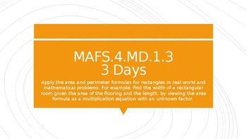 MODULE 2: MAFS.4.MD.1.3 - 3 Day Powerpoint Lesson with worksheets