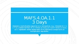 MODULE 2: MAFS.4.OA.1.1 - 3 Day Powerpoint Lesson with worksheets