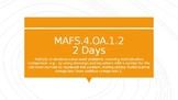 MODULE 2: MAFS.4.OA.1.2 - 2 Day Powerpoint Lesson with worksheets