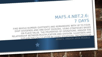 MODULE 3: MAFS.4.NBT.2.6 - 7 Days PowerPoint Lesson with worksheets