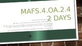 MODULE 3: MAFS.4.OA.2.4 - 2 Days PowerPoint Lesson with wo