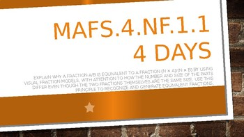MODULE 4: MAFS.4.NF.1.1 - 5 Days PowerPoint Lesson with worksheets