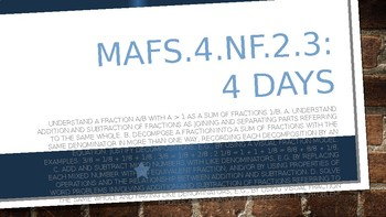 MODULE 4: MAFS.4.NF.2.3 - 4 Days PowerPoint Lesson with worksheets
