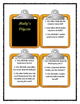 MOLLY'S PILGRIM by Barbara Cohen - Discussion Cards
