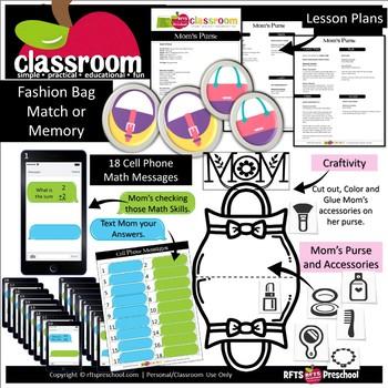 MOM'S PURSE Preschool PreK Kindergarten 1-Day Lesson Plan