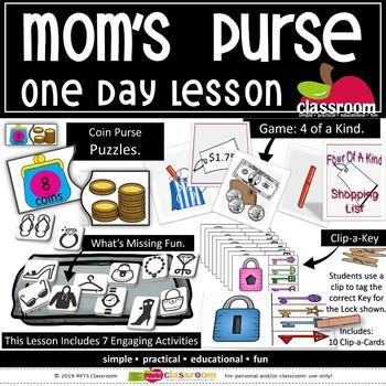 MOM'S PURSE Printables & Lesson Plan