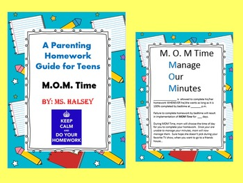 MOM Time:  A Parenting Homework Guide for Teens and PreTeens Freebie (Freebie)