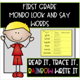 MONDO First Grade Read It, Trace It, Rainbow Write-Look an