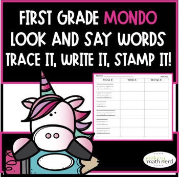 MONDO First Grade Trace It, Write It, Stamp It-Look and Say Words