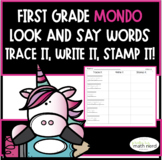 MONDO First Grade Look and Say Words~Trace It, Write It, Stamp It