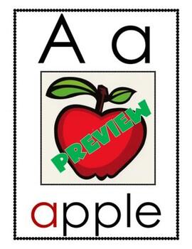 MONDO Kindergarten Key Word Alphabet Wall Cards
