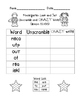 MONDO Kindergarten  Look & Say Words Unscramble and CRAZY Write!!
