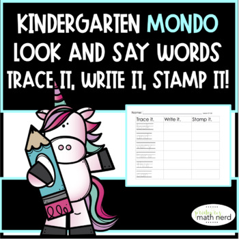 MONDO Kindergarten Trace It, Write It, Stamp It (Look and Say Words)