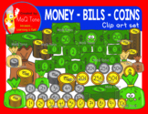MONEY - BILLS AND COINS CLIPART SET