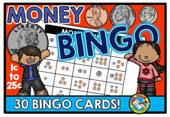 MONEY MATH GAME (MONEY BINGO COUNTING COINS GAME) MONEY AC