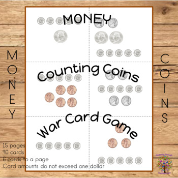 MONEY  Counting Coins War Card Game