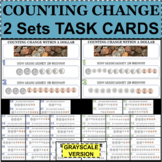 MONEY Counting Coins & Change TASK CARDS 2 Sets Test Revie