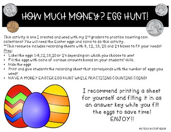 MONEY EGG HUNT!!
