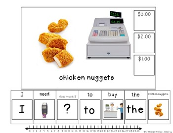 MONEY: I Can Buy...Fast Food Dollar Up Adapted Book Autism
