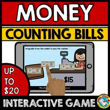 MONEY MATH CENTERS BOOM CARDS BUNDLE (COUNTING BILLS GAMES) LIKE AND MIXED BILLS