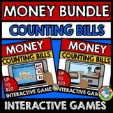 MONEY MATH GAMES BOOM CARDS COUNTING BILLS GAMES (LIKE BIL