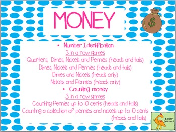 "MONEY MONEY: IDENTIFYING COINS AND COUNTING PENNIES and NICKELS ""Print and Go!"""