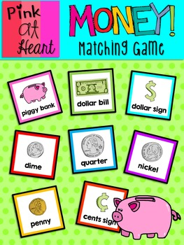 MONEY Matching Game FREEBIE!