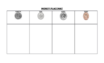 MONEY PLACEMATS