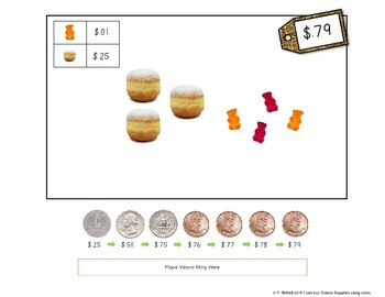 MONEY: Quarters and Pennies Coin Counting Purchasing Center