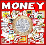 MONEY RESOURCES UK £ POUND MATHS NUMERACY GAMES FLASHCARDS POSTERS COINS